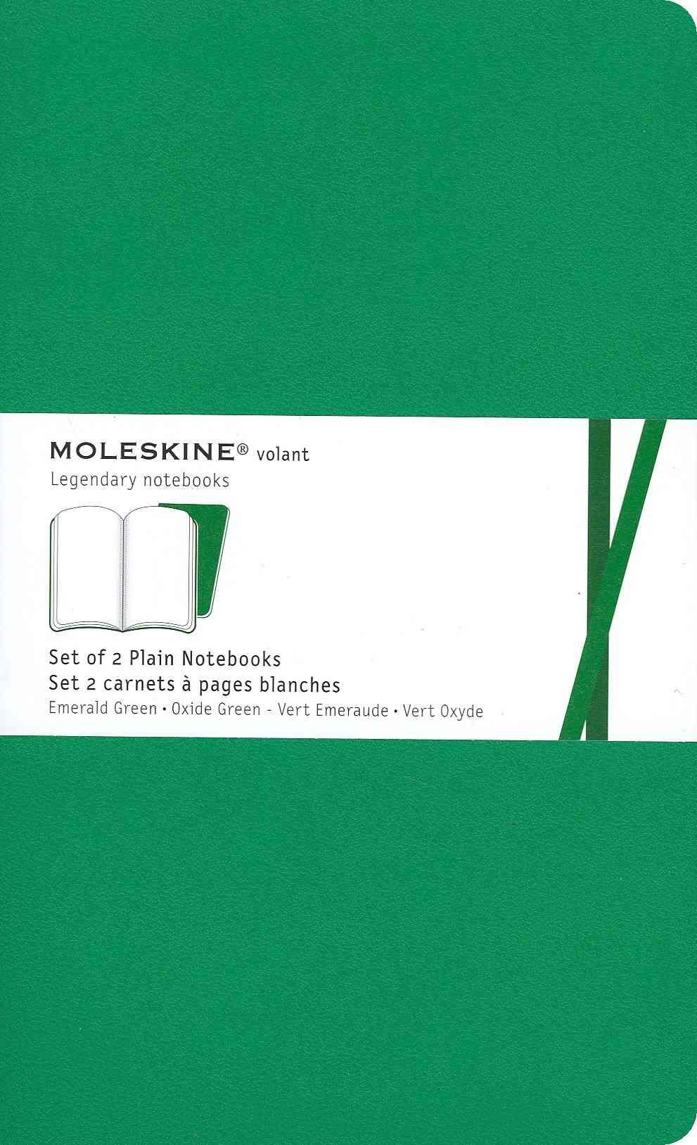 Moleskine Plain Volant Emerald Green Large (Notebook / blank book)