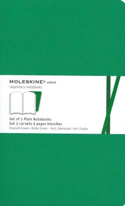 Moleskine Plain Volant Emerald Green Large (Notebook / blank book)