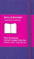 Moleskine Plain Notebook Brilliant Violet (Notebook / blank book)