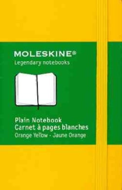 Moleskine Plain Notebook Orange Yellow (Notebook / blank book)