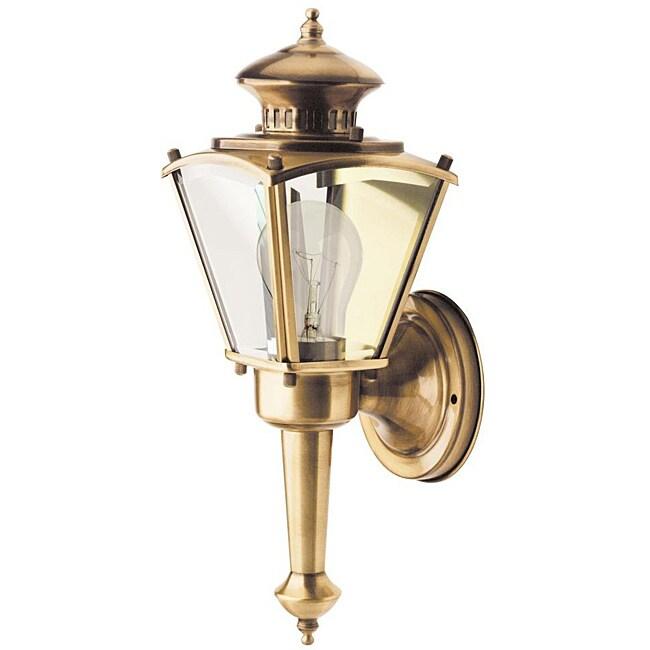 Outdoor 1-light Brass Wall Light