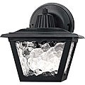 Transitional One-Light Black Steel Outdoor Wall Light
