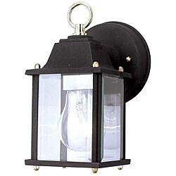 Aztec Lighting Transitional Black Outdoor 1-light Wall Light