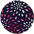 Hand-tufted Purple Rain Purple Wool Rug (8' Round)
