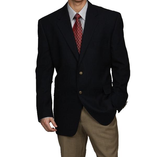 Adolfo Men's Two-button Navy Blazer