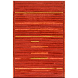 Hand-tufted Lineage Rust Wool Rug (8' x 11')