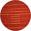 Hand-tufted Lineage Rust Wool Rug (8' Round)