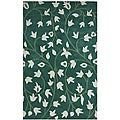 Hand-tufted Anabell Mint Wool Rug (5' x 8')