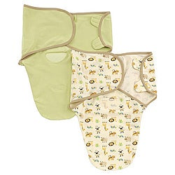 Summer Infant Zoo and Sage SwaddleMe Organic Cotton Blanket (Pack of 2)