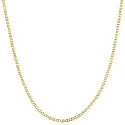 Fremada 10k Yellow Gold 18-inch Pave Flat Mariner Chain Necklace