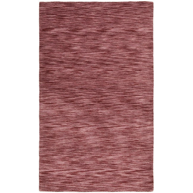 Hand-tufted Fusion Plum Wool Rug (4' x 6')