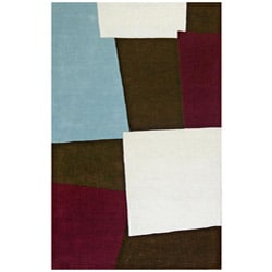 Hand-tufted Impressions Brown Wool Rug (8' x11')