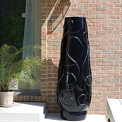 Tambou Fiberglass High-Gloss Black Oversized Planter (Philippines)