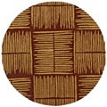 Hand-tufted Thatch Brown Wool Rug (6' Round)