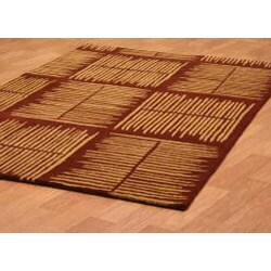 Hand-tufted Thatch Brown Wool Rug (8' x 11')