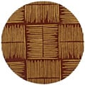 Hand-tufted Thatch Brown Wool Rug (8' Round)