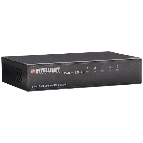 Intellinet 5-Port 10/100 Desktop Switch, Metal Housing