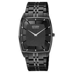 Citizen Men's Eco-Drive Sapphire Glass Black Ion Plated Stainless Steel Watch