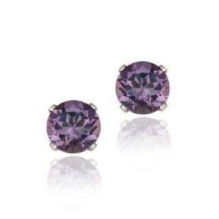 Glitzy Rocks Sterling Silver 1 1/2ct TGW Amethyst Stud Earrings