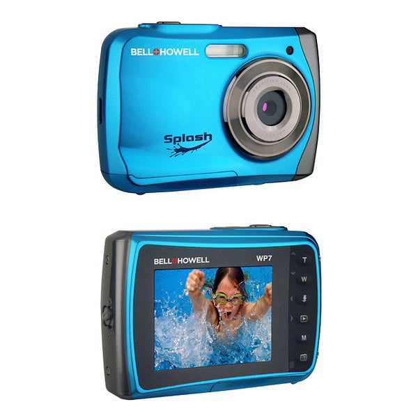 Bell + Howell Splash WP7 12MP Waterproof Blue Camera