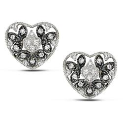 10k White Gold 1/4ct TDW Diamond Heart Earrings (G-H, I3)