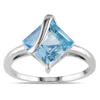 Miadora Sterling Silver Sky Blue Topaz Fashion Ring