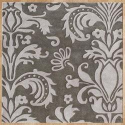 Alliyah Handmade Grey New Zealand Blend Wool Rug (6' Square)