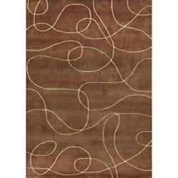 Alliyah Handmade Brown New Zealand Blend Wool Rug