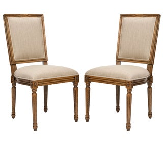 Safavieh Preston Carved Oak Side Chairs (Set of 2)