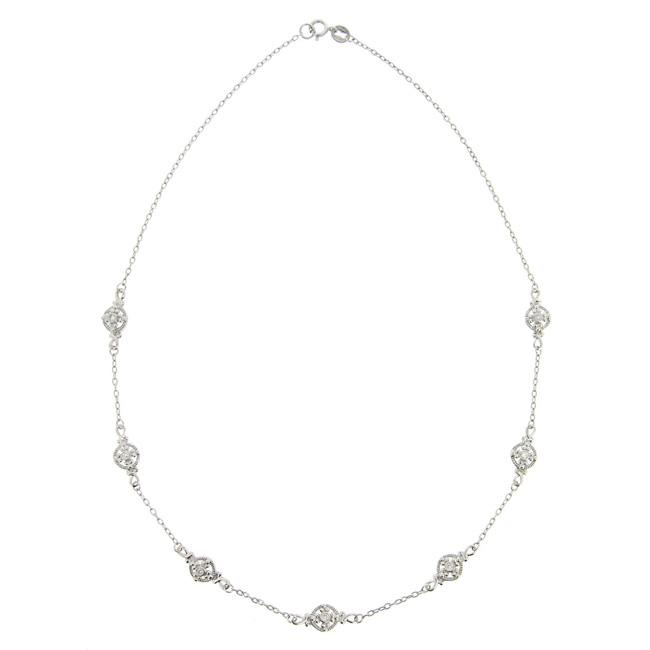 Icz Stonez Sterling Silver Cubic Zirconia By-the-yard Necklace