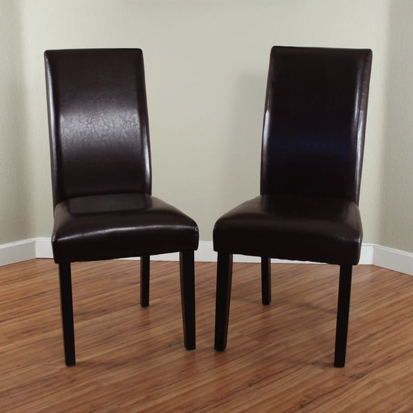 DINING ROOM CHAIRS BROWN LEATHER FAUX SET 2 MODERN PAIR  : Villa Faux Leather Brown Dining Chairs Set of 2 2443a51f d32b 45e8 81dc 99e132e075fc600 from www.ebay.com size 600 x 600 jpeg 41kB