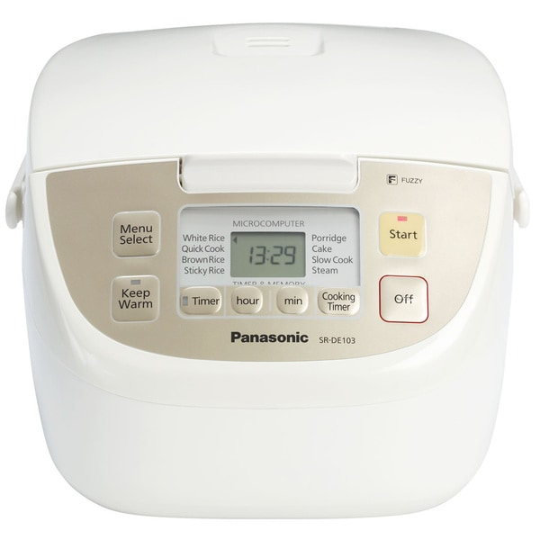 Panasonic White 5-cup Rice Cooker/ Steamer
