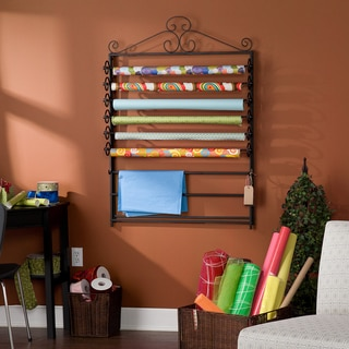 Leal Black Wrapping Paper & Craft Storage Rack