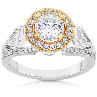Annello 18k Two-tone Gold 1 3/4ct TDW Diamond Ring (F-G, I1-I2)