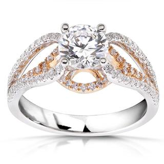 Annello 18k Two-Tone Rose Gold 1 1/2ct TDW Diamond Ring (F-G, I1-I2)