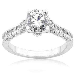 Annello 18k White Gold 1 1/6ct TDW Diamond Engagement Ring (F-G, I1-I2)