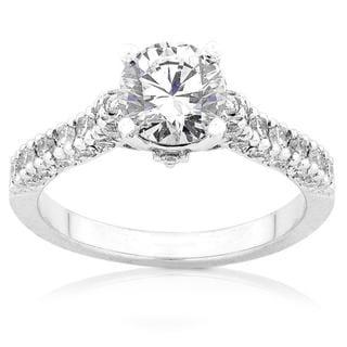 Annello 18k White Gold 1 1/6ct TDW Diamond Engagement Ring (F-G, I1-I2)
