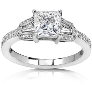 Annello 18k White Gold 1 1/2ct TDW Diamond Engagement Ring (G-H, I1-I2)