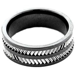 Men's Scratch-Resistant Tungsten and Ceramic Comfort-Fit Band (8 mm)