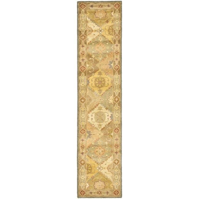 Safavieh Handmade Antiquities Bakhtieri Multi/ Beige Wool Rug (2'3 x 10')