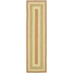Hand-woven Indoor/Outdoor Reversible Multicolor Braided Runner (2'3 x 8')