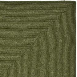 Hand-woven Country Living Reversible Green Braided Rug (8' x 10')