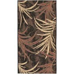 Indoor/Outdoor Black/Creme Polypropylene Rug (2'7 x 5')