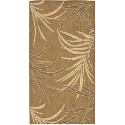 Indoor/ Outdoor Gold/ Creme Rug (2'7 x 5')