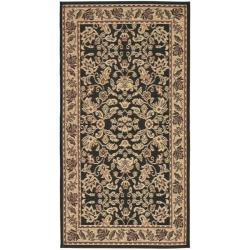 Safavieh Indoor/ Outdoor Black/ Cream Rug (2'7 x 5')
