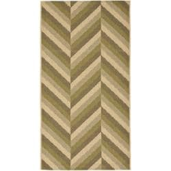 Safavieh Indoor/ Outdoor Cream/ Green Rug (2'7 x 5')