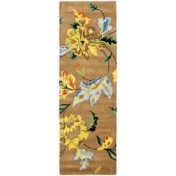 Handmade Soho Brown New Zealand Wool Runner (2'6 x 6')