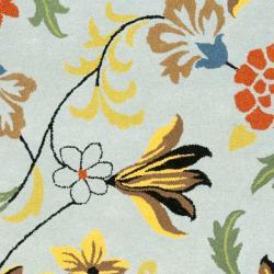Safavieh Handmade Soho Blue New Zealand Wool Rug (9'6 x 13'6)