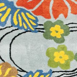 Safavieh Handmade Soho Blue New Zealand Wool Runner (2'6 x 6')