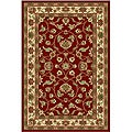 Oriental Melody Red Wool Rug (5' x 8')